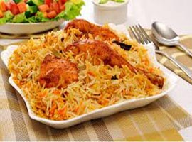 Chicken Biryani Of Aminia