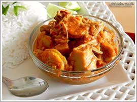 Echor O Chingrir Dalna Or Jack Fruit & Prawn Curry