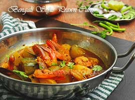 Bengali Style Prawn Curry With Pumpkin & Pointed Gourd