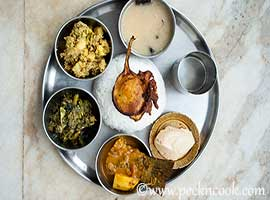 Rohu Fish Curry Thali