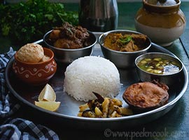 Sunday Bengali Mutton Thali