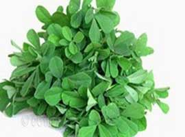 To remove the bitterness of methi leaves