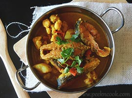 Bhetki Fish With Cauliflower & Potato Curry