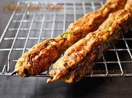 Indian Style Chicken Seekh/Sheekh Kabab