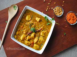 Chicken With Lentil Soup Or Chicken Dal Recipe