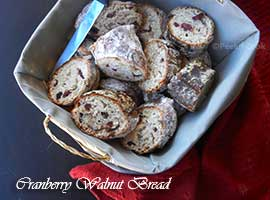 Classic Cranberry & Walnut Breakfast Bread