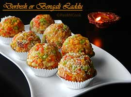 Dorbesh Or Bengali Style Boondi Laddu