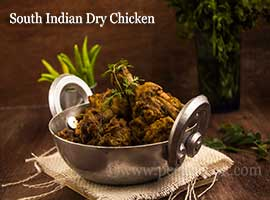 South Indian Style Dry Chicken Curry