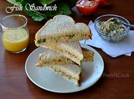 Indian Style Tuna Fish Sandwich