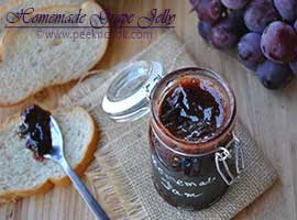 Homemade Spicy Fresh Grape Jelly Without Pectin