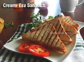 Indian Egg Sandwich