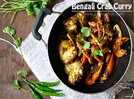 Kakrar Jhal Or Bengali Style Crab Curry