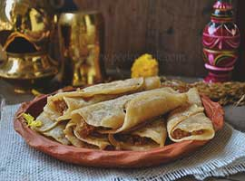 Bengali Coconut Stuffed Crepes Or Patishapta