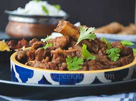 Kosha Mangsho Or Bengali Dry Mutton Curry