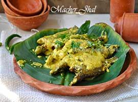 Macher Jhal Or Bengali Fish In Mustard Gravy