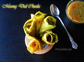 Plain Moong Dal Cheela/Chilla Recipe