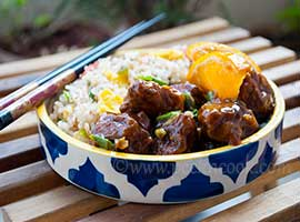 Indo Chinese Style Orange Chicken