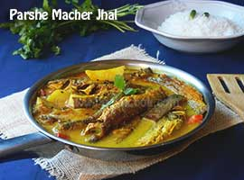 Parshe Macher Jhal Or Parshe Fish In Mustard Gravy