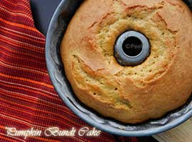 Simple Pumpkin Bundt Cake For Halloween