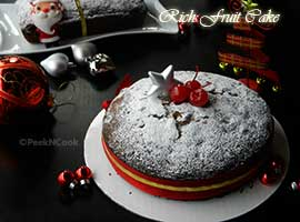Christmas Rich Plum Cake | Fruit Cake