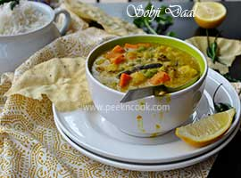 Sobji Die Muger Dal Or Bengali Style Mung Dal With Mixed Vegetables