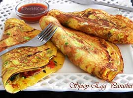 Spicy Egg Paratha