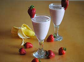 Strawberry Banana Milk-Shake