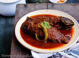 Tel Koi or Climbing Perch Fish in Mustard Oil Gravy