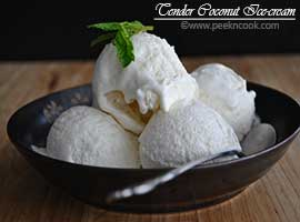 Eggless Tender Coconut ice-cream Or Daaber Malai Ice-cream Without Ice-cream Maker
