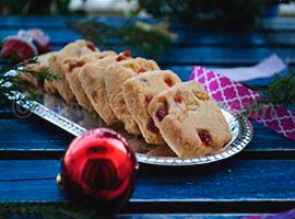 Eggless Tutti Fruity Shortbread Cookies For Christmas