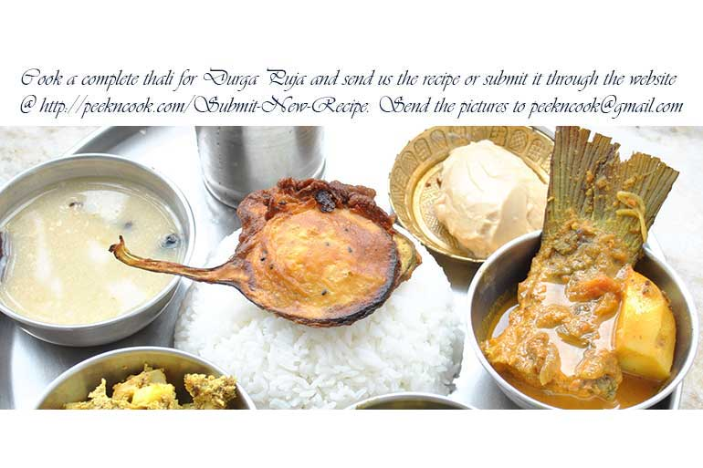 Cook a complete thali for Durga Puja